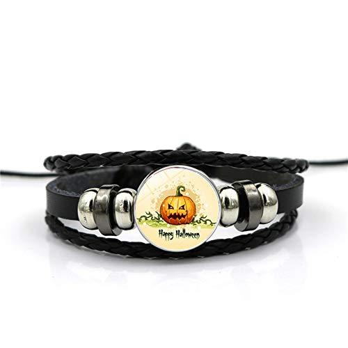 Blisfille Handgemachte Halloween Schmuck Zeit Edelstein Armband Armband Armband Damen Herren Fest