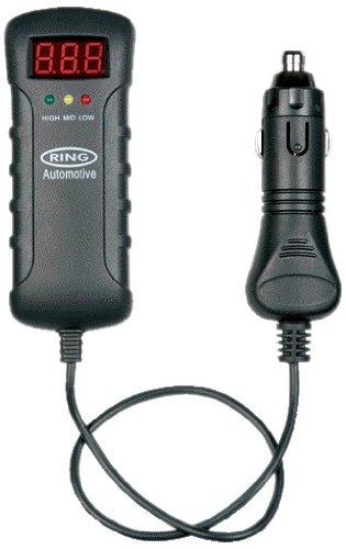 Ring Automotive RBA3 Voltmeter with DC Plug, 12/ 24 V