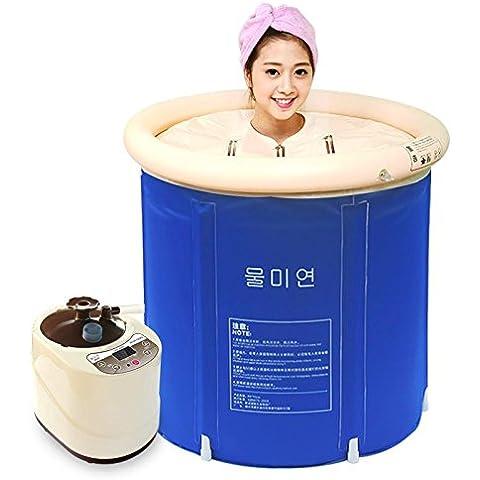 RRJH Sauna Bagno Pieghevole a doppia canna cilindro del bagno