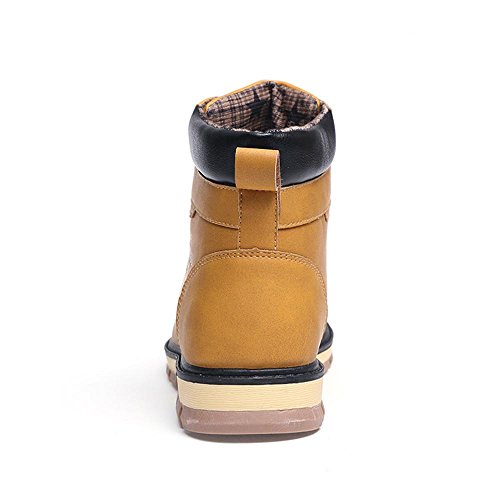 Stivali Martin Scarponi da neve Scarpe derby stivali Stivaletti High-top pelle Usura antiscivolo Mantieni caldo Assorbimento degli urti Sport all'aria aperta Yellow