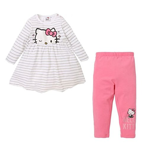 Hello Kitty Kleid & Leggings weiß (68)