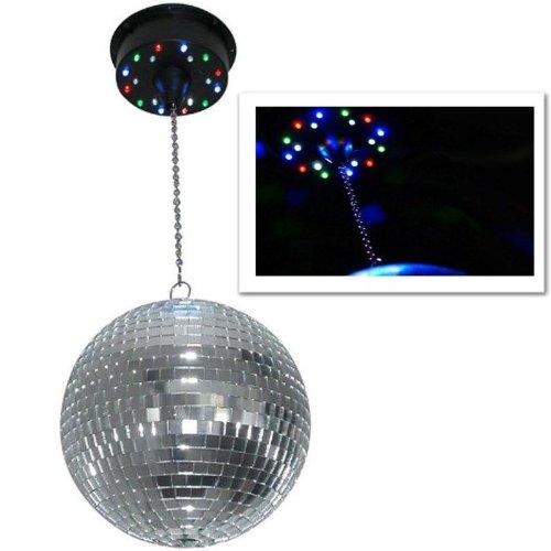 supporto da soffitto motorizzato per sfera specchiata (18 LED, 6 giri / minuto, microfono integrato, max 2 KG)