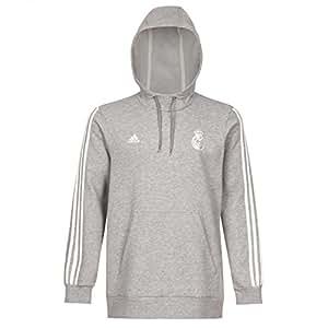 Adidas pull à capuche pour homme real madrid core sweat à capuche M Gris - Medium Grey Heather/Off White