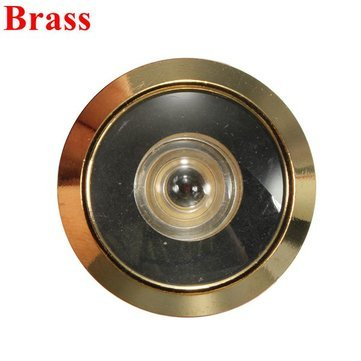 Generic 12Mm Brass Security Door Viewer Spy Hole Peephole Adjustable 180 Degree