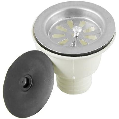 Plástico fregadero del agua de drenaje cesta de filtro tapón 65mm Dia