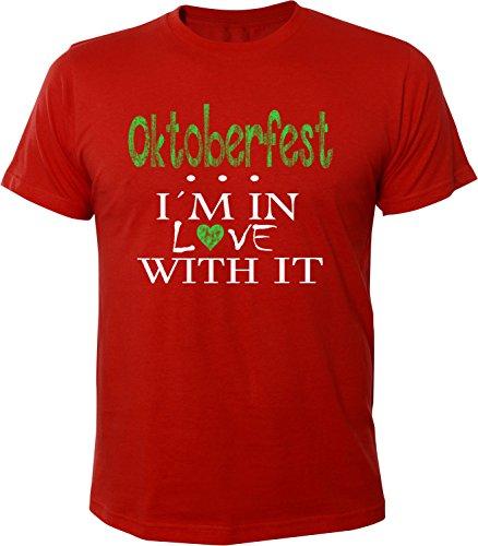 Mister Merchandise Herren Men T-Shirt Oktoberfest - I´m in love Tee Shirt bedruckt Rot