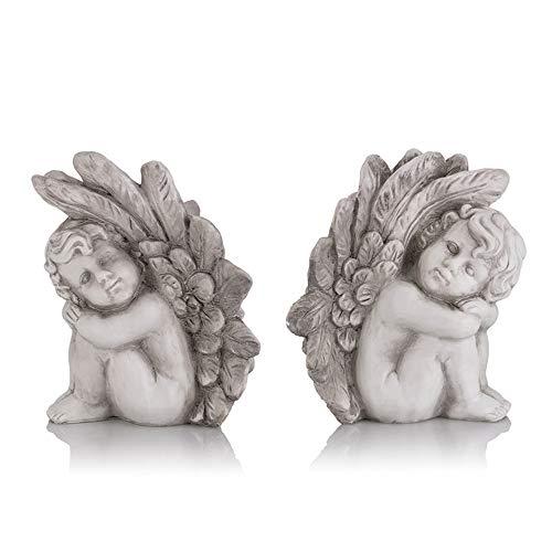 Engel Figuren aus Polyresin - In- & Outdoor für den Garten geeignet ()