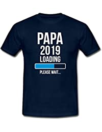 Spreadshirt Papa 2019 Loading Please Wait T-Shirt Homme
