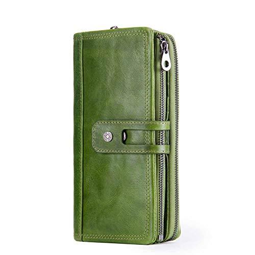 Clutch Tasche Brieftasche Karte Klassischen Stil Multifunktions Rechteckig Lässig Große Kapazität Braun/Grün/Italienisch Rot,Green,OneSize -