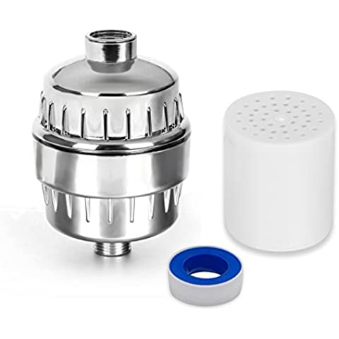 Homebuunnyy Filtro de Agua para Ducha, Purificador de Agua para Ducha Filtración Ablandador de Agua de Alto Rendimiento para Reducir Cloro, Metales Pesados