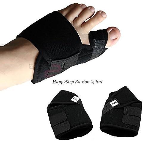 HappyStep® Férula para juanetes, corrector de hallux valgus, realineación del dedo gordo del pie, reducción de juanetes, corrector de juanetes y alivio del dolor (Talla L: 43-46 UE)