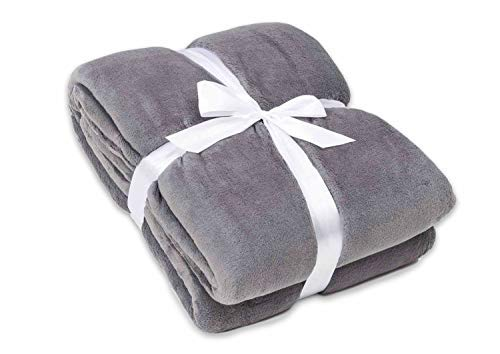 myHomery Ärmeldecke - Kuscheldecke XL - TV-Decke mit Ärmeln - Fleecedecke zum Lesen und Fernsehgucken - Sofadecke mit Taschen für IPad Fernbedienung und Füße Anthrazit | 170 x 200 cm
