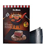 Dr Mats Non-Stick Grill & BBQ Mat, BPA-Free PTFE Material, Dishwasher Safe, Compatible With Electric, Charcoal & Gas Grills