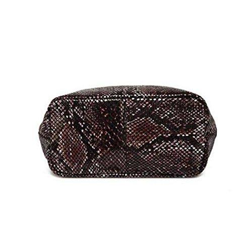 Snake Embossed Python Bag In Pelle Borsa A Tracolla Delle Donne Black