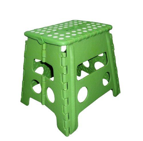 zeller-99166-color-sgabello-pieghevole-in-plastica-37-x-30-x-32-cm-colore-verde