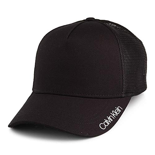 Calvin Klein Herren Item Trucker Baseball Cap, per Pack Schwarz (Black 001), One Size (Herstellergröße: OS)