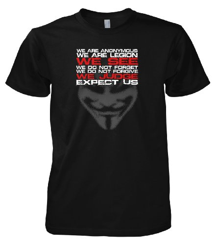 Geek Hacker - Anonymous We See We Judge 701495 T-Shirt