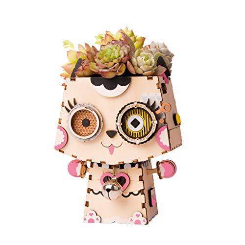 Katy Mini Set (Blumenpot Set/DIY Wooden Mini Möbelset/Katie Model/Indoor-Outdoor-Dekoration/Geschenk-Weihnachts-Geburtstag)