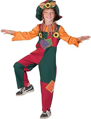 Kostüm Vogelscheuche Theo Kind Junge Mädchen Größe 140 Kinderkostüm Märchen Karneval Fasching Bunt Sonnenblumen Pierro's