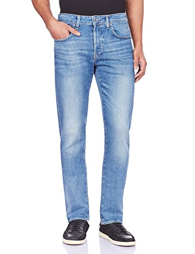 G-STAR Herren Jeanshose 3301 Slim, Blau - Blau (Light Aged), 32W / 30L