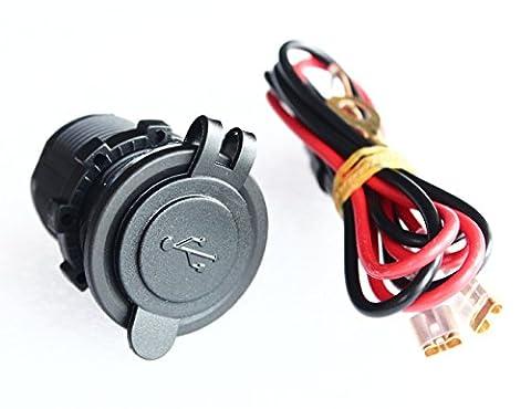 bandc qualité marine bleu 12V/24V USB prise Chargeur Duel Port 1A/2,1A pour iPhone iPad GPS avec fil