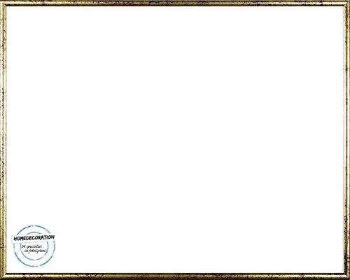 Amsterdam Bilderrahmen Posterrahmen Farbe Gold Antik 27,9 x 35,6 cm ( 11 x 14 Inch ) hochwertiger Kunststoff mit unzerbrechlichem glasklarem APET Kunstglas UV beständig 35,6 x 27,9 cm (Gold Bilderrahmen 11 X 14 Zoll)