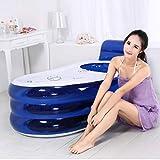 Inflatable Bath Home Erwachsene Wärme Rückenlehne Badewanne/Verdicken Kinder Badewanne/Faltende Badewanne Blaue Kunststoffwanne 51 * 28 * 28 Zoll
