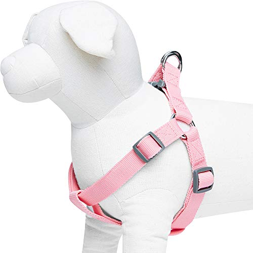 Umi. by Amazon - Classic Solid Color Dog Harness, Chest Girth 67cm-98cm, Pink, Large, Adjustable Harnesses for Dogs