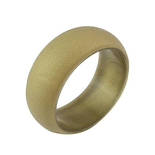 AchidistviQ Sport Club Jewelry Fashion Unisex Sport Paar Ring Hochzeit Band Silikon, Goldfarben, 10 US