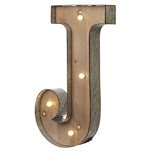 Vintage Illuminated Carnival Lights - A-Z - Choice of Alphabet Letters (Letter J) by Heaven Sends
