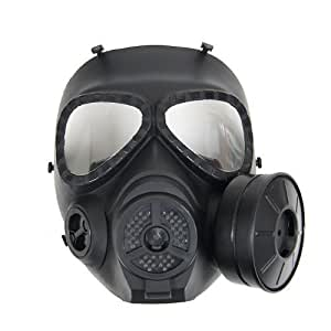 M04 gas mask type full face goggles BK [mist-mounted fan] (japan import)