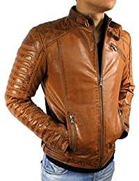 new style 08ca6 c57fb Suchergebnis auf Amazon.de für: Lederjacke Herren Cognac ...