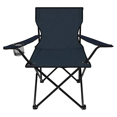 Chaise pliante Chaise Pliante Avec Accoudoirs Chaise De Pêche Avec Chaise De Dossier Chaise De Dessin En Plein Air Pour 120 Kg (Couleur : Bleu)