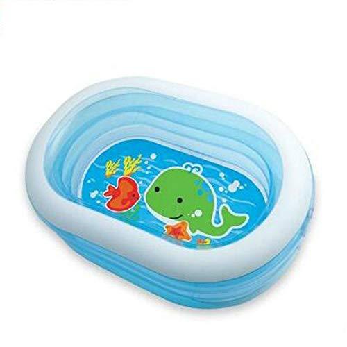 gengyouyuan Schwimmbad Transparenter elliptischer Babypool Aufblasbares Poolbad für Familien
