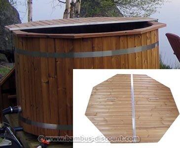 Badefass Abdeckung mit einem ca. Durch. 150cm - für Holzbadefass Badefässer Badefass für draussen