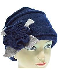 Mhgao in pura lana cappello moda donna autunno inverno cappello caldo 9397684e07f1