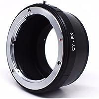 CY FX ∞ Anillo Adaptador de objetivo Contax-Yashica a caja Fuji X adaptador metal 100% enfoque a la infinito anillo anillo compatible con todas las montura Fuji X Dont X-Pro2x-t2X-T1X-T10X-E2s X-E2x-E1x-A2montura de bayoneta.–adaptout marca francesa
