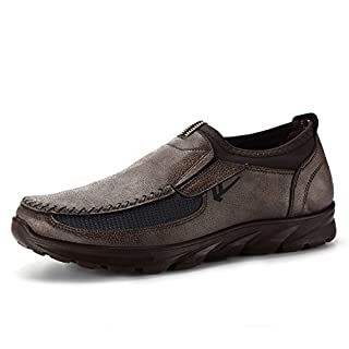 AFUT Men's Casual Flat Loafers Shoes, Fashion Men's Comfort Suede Casual Shoes Breathable Antiskid Slip Shoes