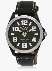 OMAX Analog Black Dial Mens Watch - SS138