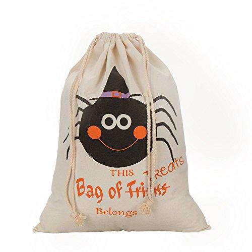 Shopping_Shop2000 Halloween Taschen, Party, Trick or Treat Candy Tüten Geschenktüten, Leinwand Taschen mit Kordelzug, für Halloween Geschenke, Tasche Maßnahme 36,1x 48cm Design #4