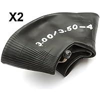 2 Cámaras de aire 3,50x3,00-4 válvula doblada para mini quad/scooters a gasolina