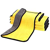 WLEYYY towel Microfiber Car Wash Towel Car Cleaning Washable Quick Drying Cloth Super Absorbent Car,yellow,60x30cm