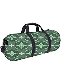 Snoogg Green Pattern Gym Bag, Sports Duffel Bag, Fitness Workout Yoga Bag For Men Women With Compartment