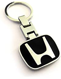 Gratitude Honda Logo Double-Sided Metallic Black Keychain / Key Chain / Keyring / Key Ring