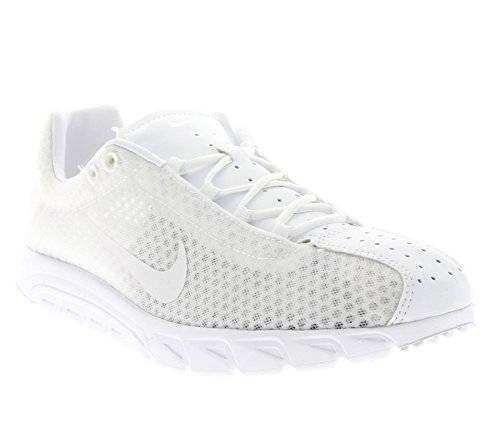 Nike Mayfly Leather Prm, Chaussures de Sport Homme Blanc Cassé - Blanco (Blanco (White/White-White))