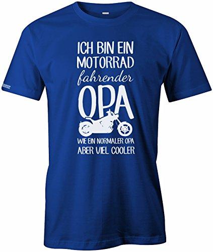 Ich bin ein Motorrad fahrender Opa - Herren T-Shirt Royalblau