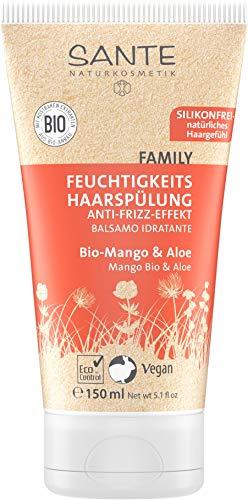 SANTE Naturkosmetik Feuchtigkeits Haarspülung Bio-Mango and Aloe, Fruchtiger Duft, Gesundes Haar, Natürliche Spülung ohne Silikon, Vegan, Conditioner 150g pack