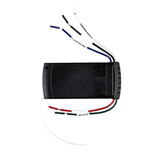 Universal-Fernbedienung für Lange Entfernungen für den Heimgebrauch Drahtlose Deckenventilatorlampe Fernbedienung + Timing-Funkfernbedienungsset - Weiß