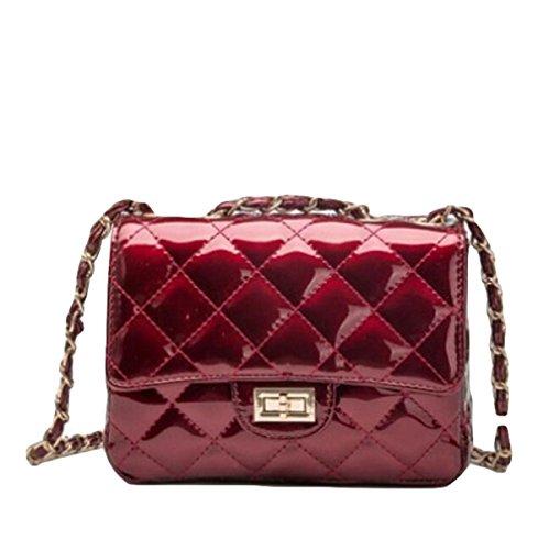 Della Catena Borsa Tracolla Ms. Lingge Messenger Bag Borse Moda Retrò Selvatici Red