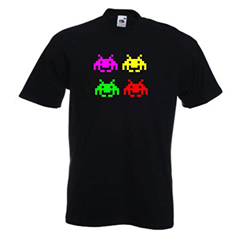 Kids/Teens Four Invaders T-shirt - 100% Cotton - Ages 5 to 15 Yrs